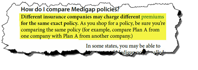Shop medigap plans